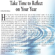 Take Time to Reflect on Your Year